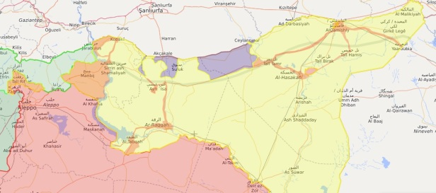 latest syria map
