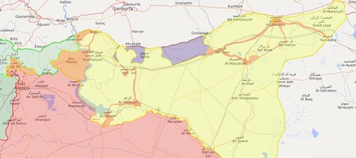 latest syria map